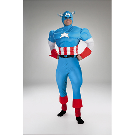 Captain America Costume: birthday parties hong kong childrens shows magic juggling functions birthdays party hong kong 生日會派對、小丑、扭汽球、­雜耍雜技, 舞蹈  遊戲, 小丑扭汽球、雜耍雜技