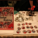 Badges give aways at an event at the Shangri-la Kowloon