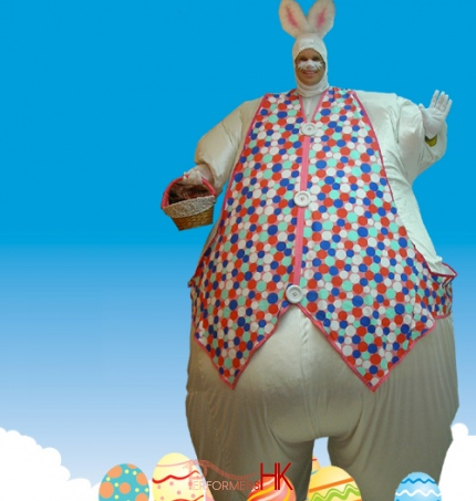Hong Kong inflatable giant Easter Bunny costume for Easter event