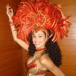 With different costume options - Orange Samba costume.