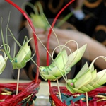 Grass hopper making at the West Kowloon Bamboo Theater
