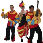 The Grooves in their fun Spanish costumes.