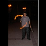 Ling and his amazing fire devil stick.