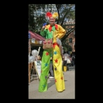 Simple and fun stilt costume.
