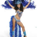 With different costume options - Blue Samba costume.