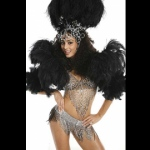 With different costume options - Black Samba costume.