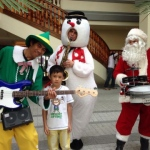 Performing in their Xmas attire at the Repulse Bay fair.