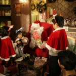 Santa at Stanley Plaza.