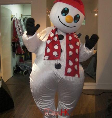 Snowman chubby inflatable gemmy