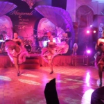 Can can dancers doing their famous high kicks at AMC year end ball.
