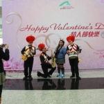 Performing at the HKIA for a valentine  themed event.