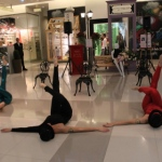 3 dancers perform for a French themed event at k11.