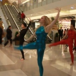 Modern dancers showing their powerful moves at K11 mall in Hong Kong.