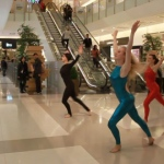 Shoppers enjoying a refreshing modern dance performance at K11 mall.