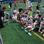 Kids magic and juggling show at the Hong Kong Football club.