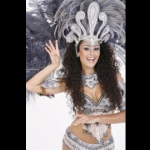 With different costume options - Sliver Samba costume.