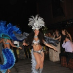Brazilian dancers livening up a Hong Kong company staff party