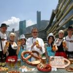Posing for the Hong Kong Jockey Club Oktoberfest event.