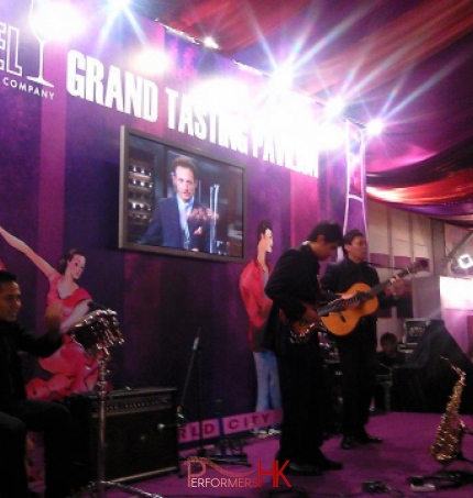 Hong Kong Musician performing at Hong Kong Wine and Dine fair
