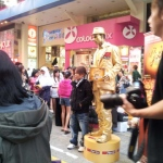 Living Statue performance at Causeway Bay on behalf of Pizza Hut.