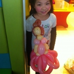 Walk around balloon artist made a Aurora balloon for a child at Hong Kong Aberdeen Marnia Club