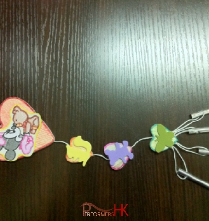 A wind chime sample for a HK children birthday party