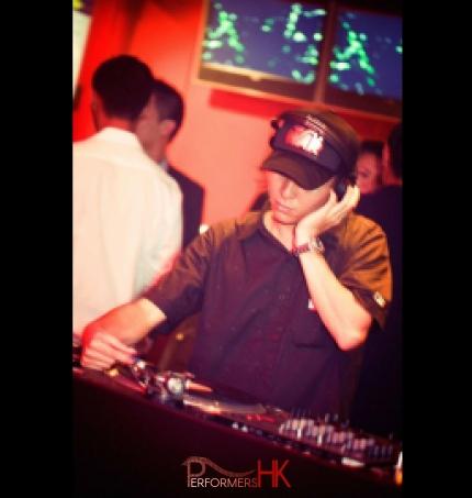 Well-known DJ DJ Frankie in Hong Kong