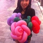 Rose balloons for Valentine days.
