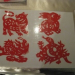 Twelve Chinese zodiac animals - Tiger , Dragon , Rabbit , Snake.