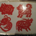 Twelve Chinese zodiac animals - Pig , Mouse , Dog , Cow.