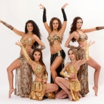Bollywood Dance costumes in Gold.