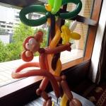 Monkey on tree balloon.