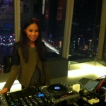 DJ Bezi spinning under the gorgeous night view of Hong Kong.