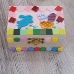 Easter box craft made by kids.