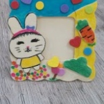 Easter bunny photo frame.