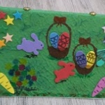 Easy Easter craft picture for kids.