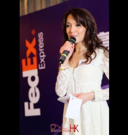 MC Sharika as MC for Fedex express