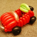 A Red car balloon from Anson.
