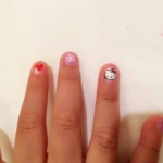 A little cartoon nail paint. Very popular with young kids.