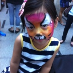 Face painting at Paterson street.