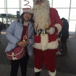 Santa Rowan with guest at HKIA