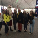 Santa at airport with guests at the airport