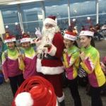 Santa Rowan at the Airport as Official Airside Santa during 2016 XMas