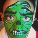 Perfect Scary face paint for your Halloween event/party.
