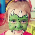 A little green monster face paint.