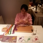 Chinese Knotting artist at Intercontinental hotel TST.