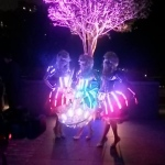 Our led costumes looking amazing at a Hong Kong rooftop garden party.