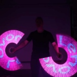 Led Poi with Logo.