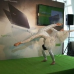 Performing at a product launch for Aspire at the ICC in Hong Kong.