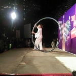 Acrobatics artist performs at Chater Gardens.